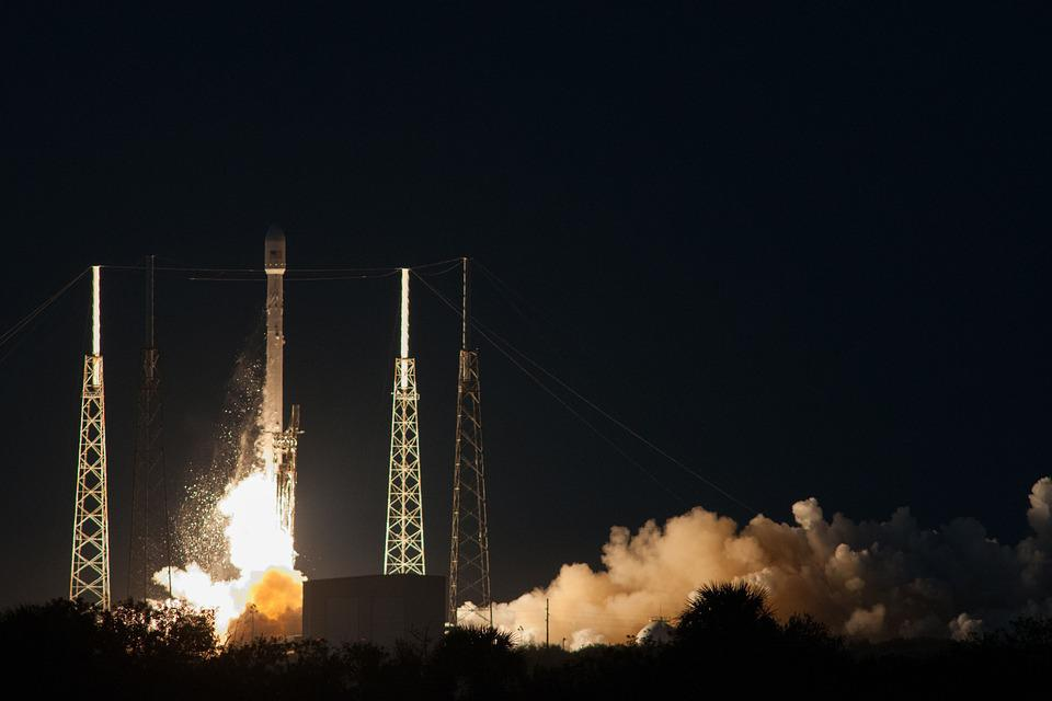 Rocket Launch, Night, Countdown, Spacex, Lift-off