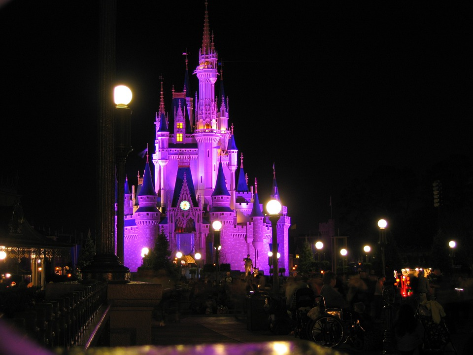 Disneyland, Magic Kingdom, Night, Romantic, Florida