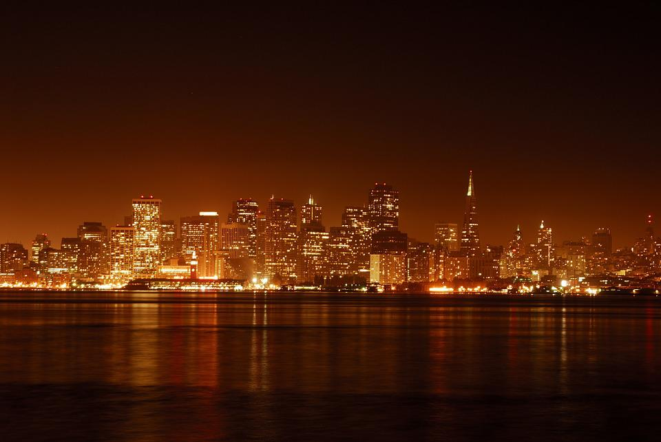 San Francisco, Night, City At Night, Bay