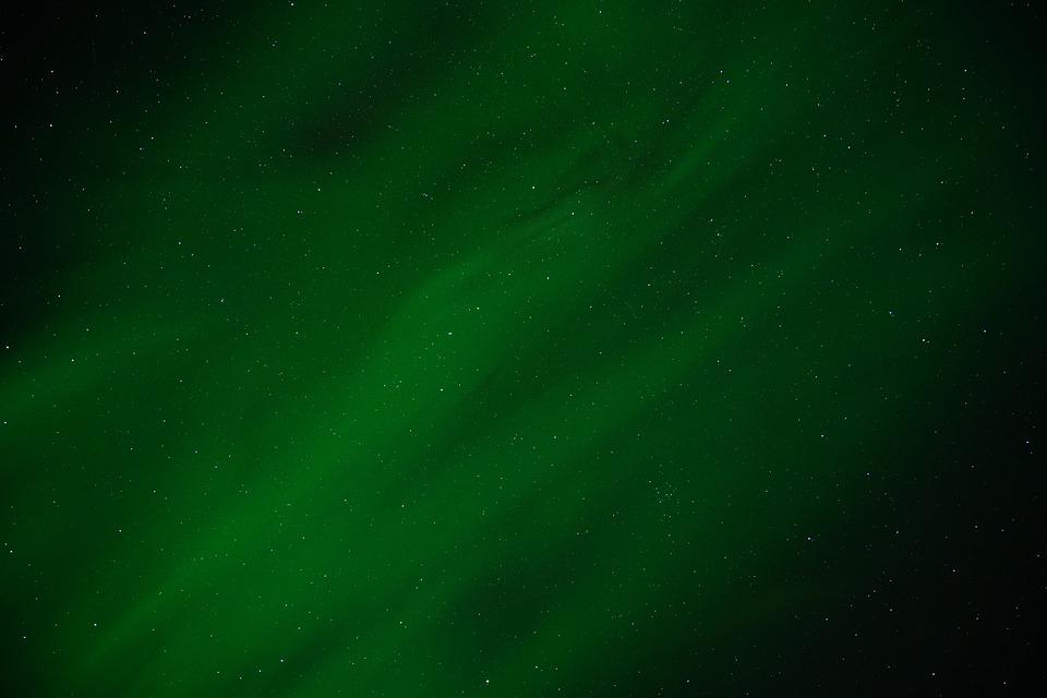 Northern Lights, Aurora, Shining, Green, Sky, Night Sky