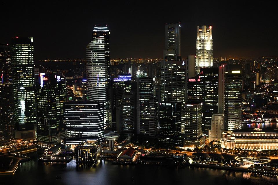 Buildings, Skyline, City Lights, Night Sky, Cityscape