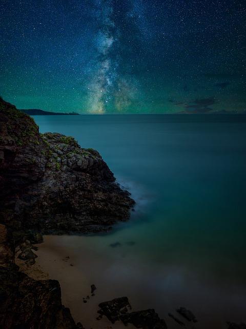 Night, Stars, Sky, Galaxy, Astronomy, Landscape