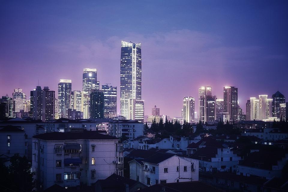 Shanghai, Night, Landscape, Skyscraper, Building, Tower