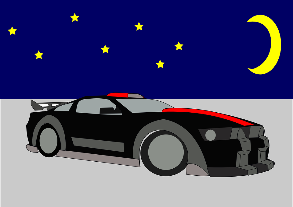 Sports Car, Sports Coupe, Car, Automobile, Coupe, Night