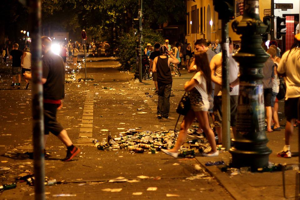 Street Festival, Garbage, Berlin, Night, Night Life