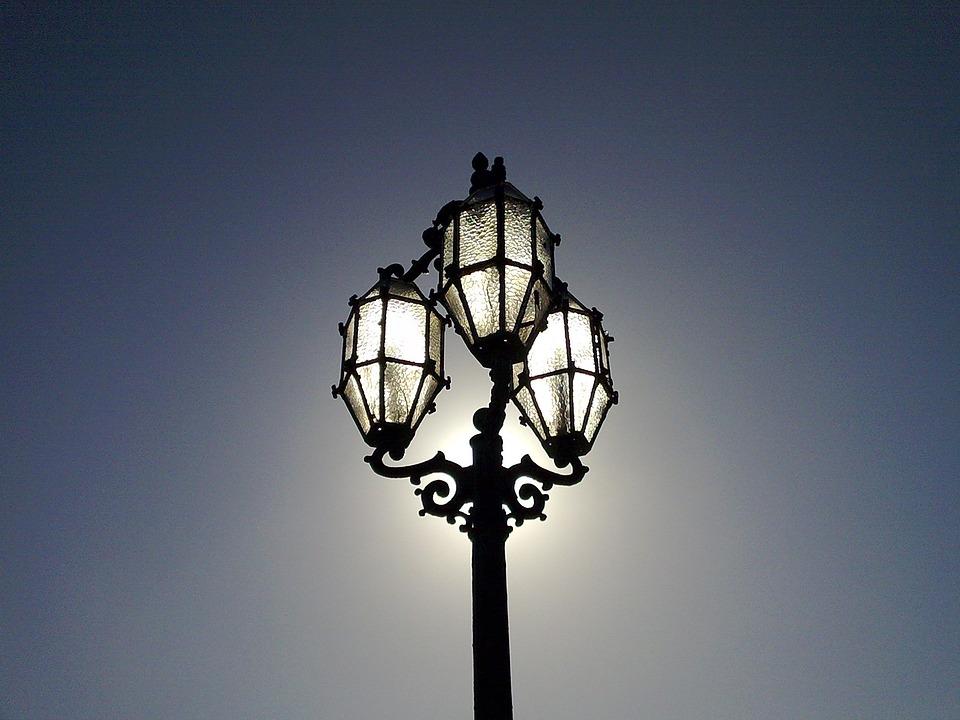 Night, Lamp, Street