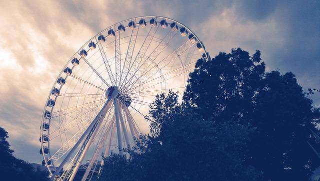 Ferris Wheel, Dawn, Travel, Urban, Uk, Night, Skyline