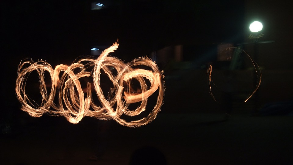 Night, Night View, Fire, Flame, Seoul, Daehakro