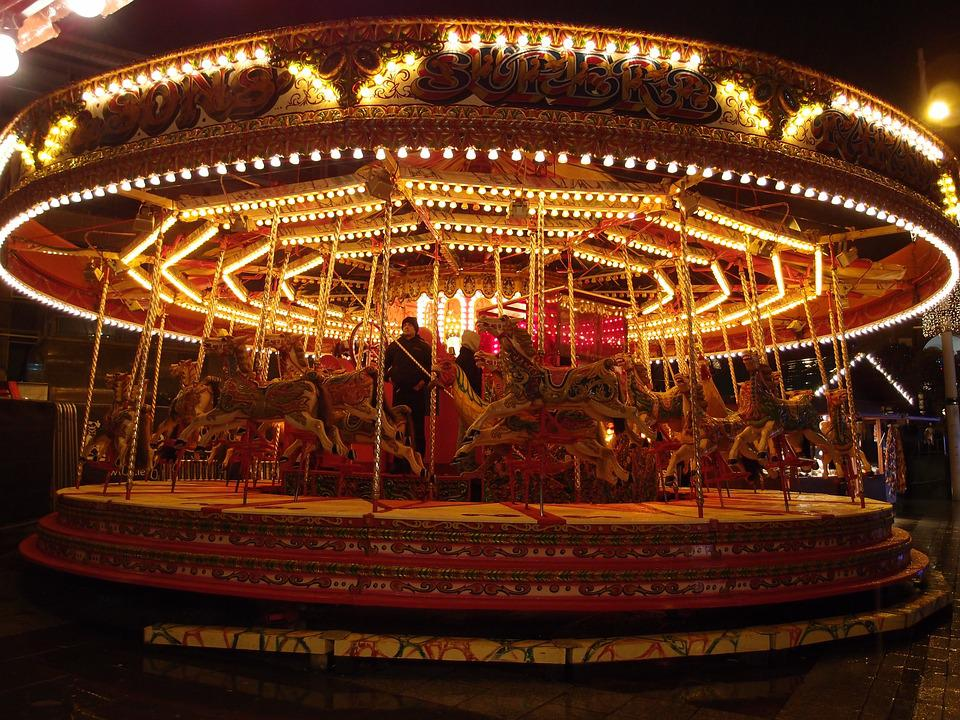 Carousel, For Joy, Nice, Night View