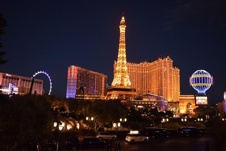 Las Vegas, Paris, Hotel, Night View