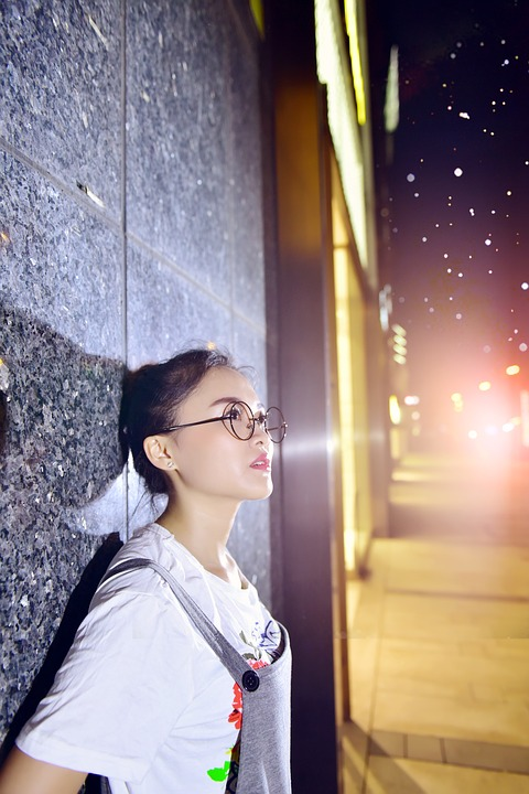 University Student, Night View, Office Worker