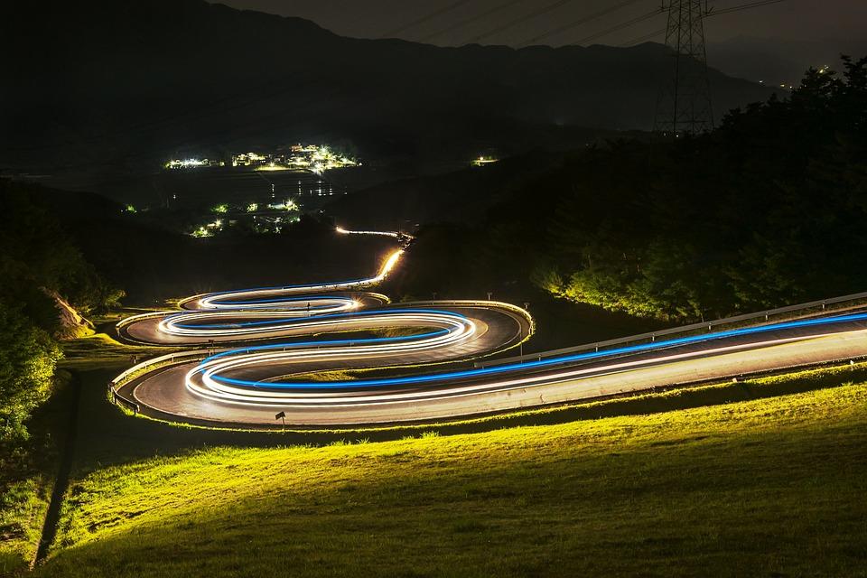 Road, Night View, Vehicle Irony, Night, Jiri, With, Car