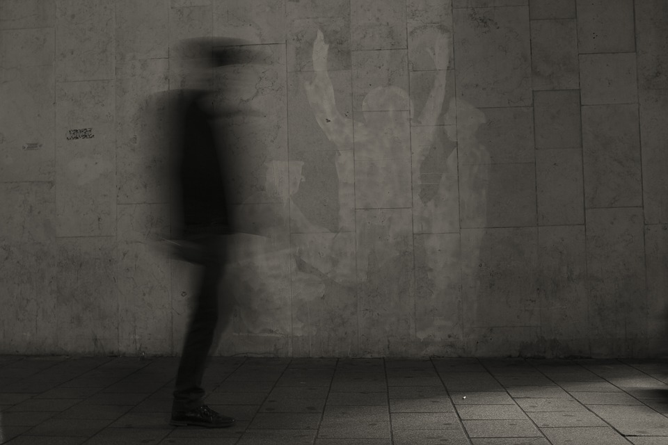 Ghost, Man, Scary, Alleyway, Night, Walk, Alone