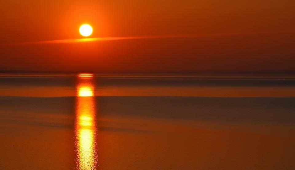 Lake Balaton, Sunset, Nightfall, Colors, Nature