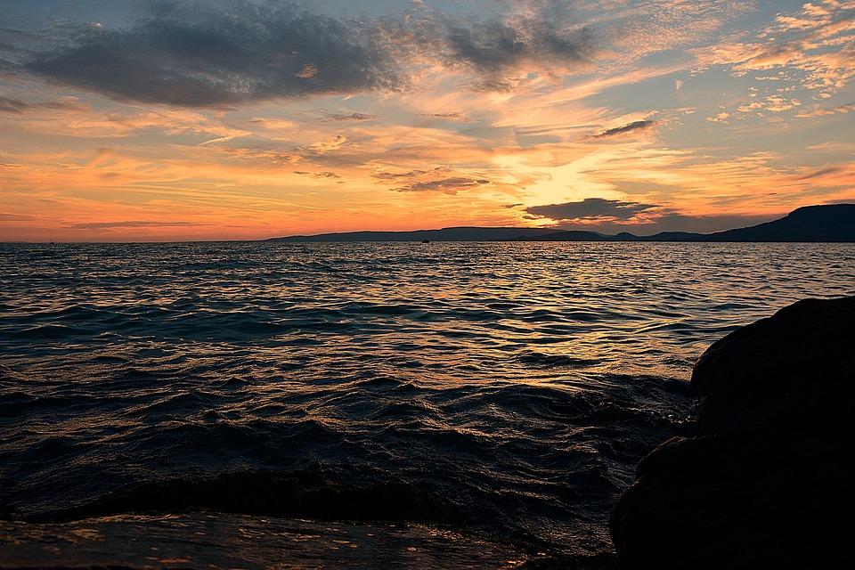 Lake Balaton, Nightfall, Sunset