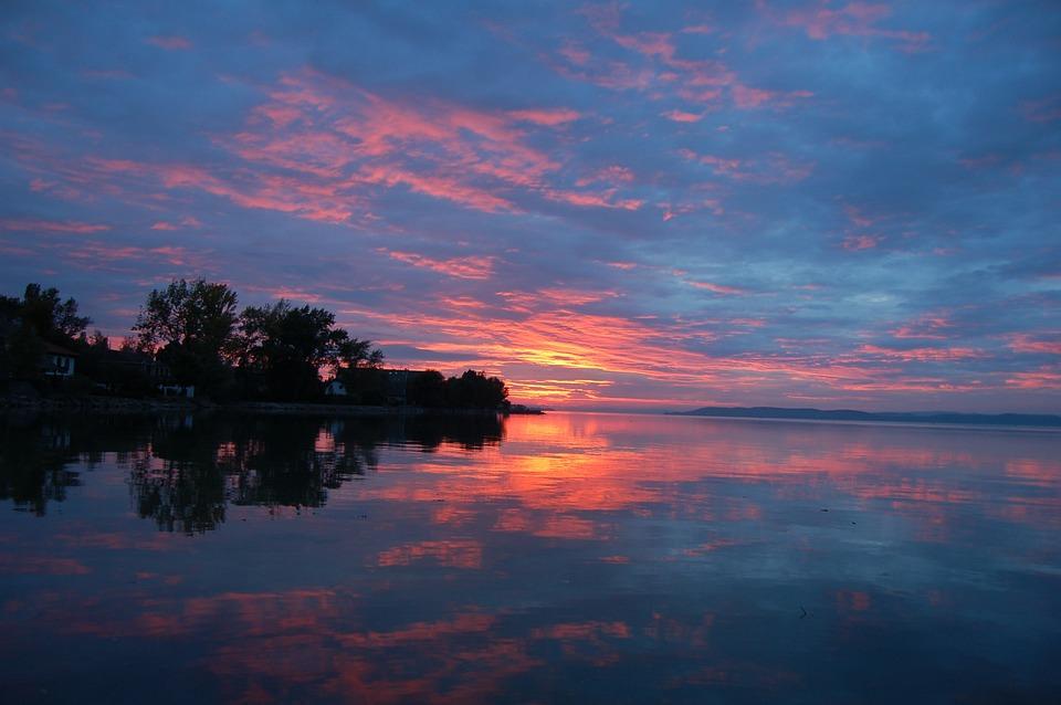 In The Evening, Nightfall, Sunset, Light, Sky