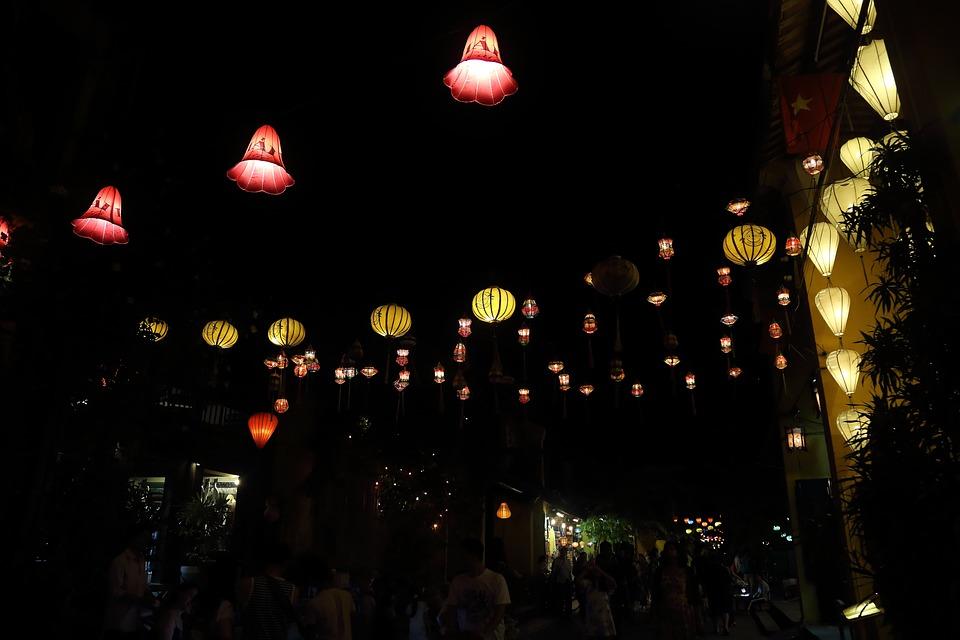 Vietnam, Nightlife, Hoi An, Lantern, Market