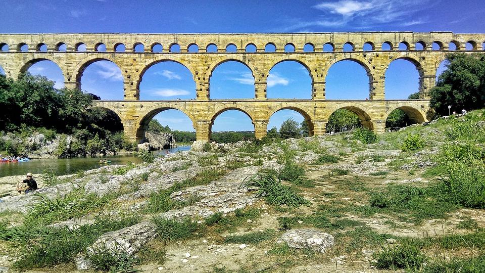 Monument, Pont Du Gard, Unesco, Gard, Nimes, Bridge