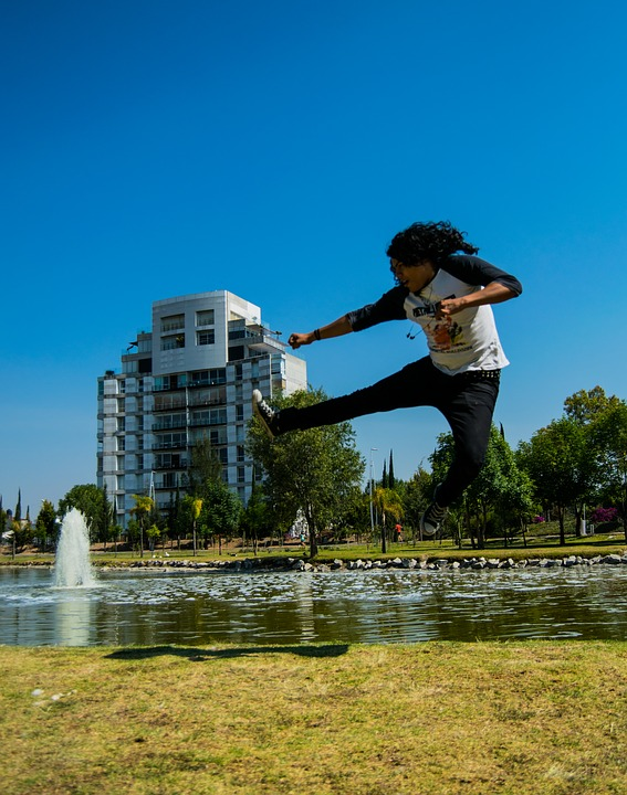 Jump, Ninja, Man, Float, Assembly
