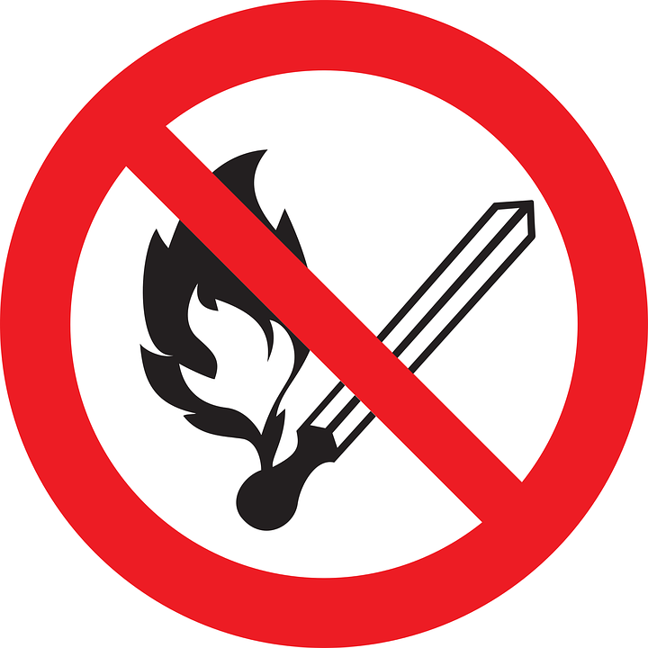 No Fire, Sign, Prohibited, Forbidden, Flammable