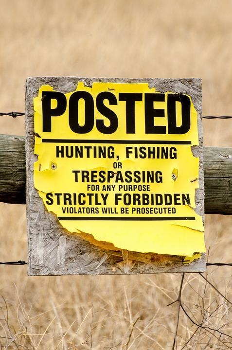 No Trespassing, Sign, Posted, Trespassing, No, Warning