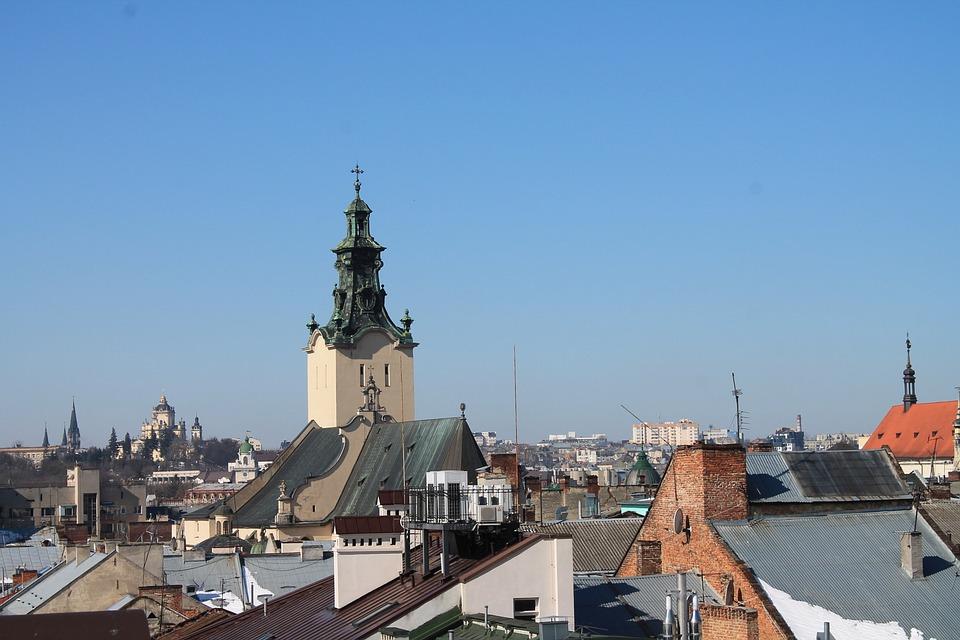 Architecture, Travel, Megalopolis, No One, Sky, Ukraine