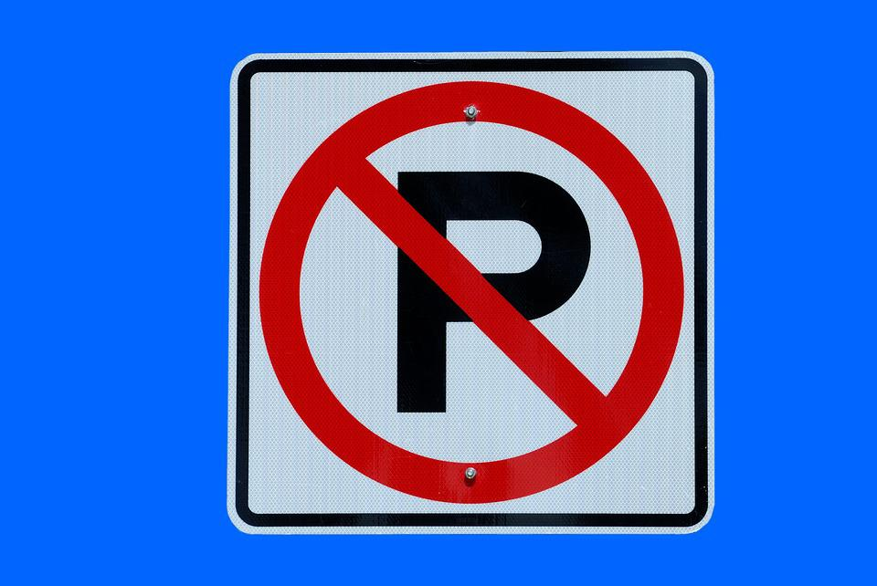 No Parking, Sign, Warning, Isolated, Background, No