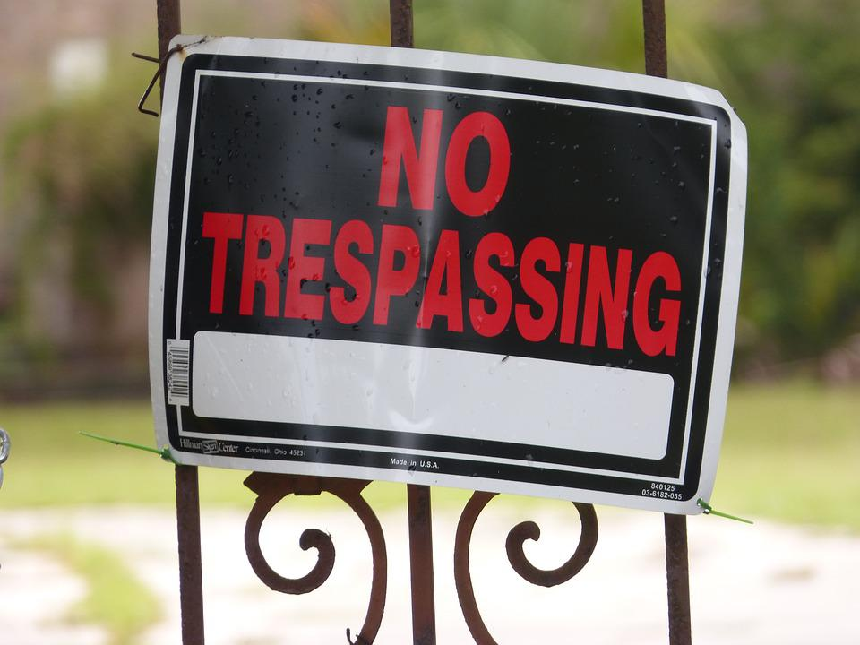 No Trespassing, Keep Out, Private Property, Sign