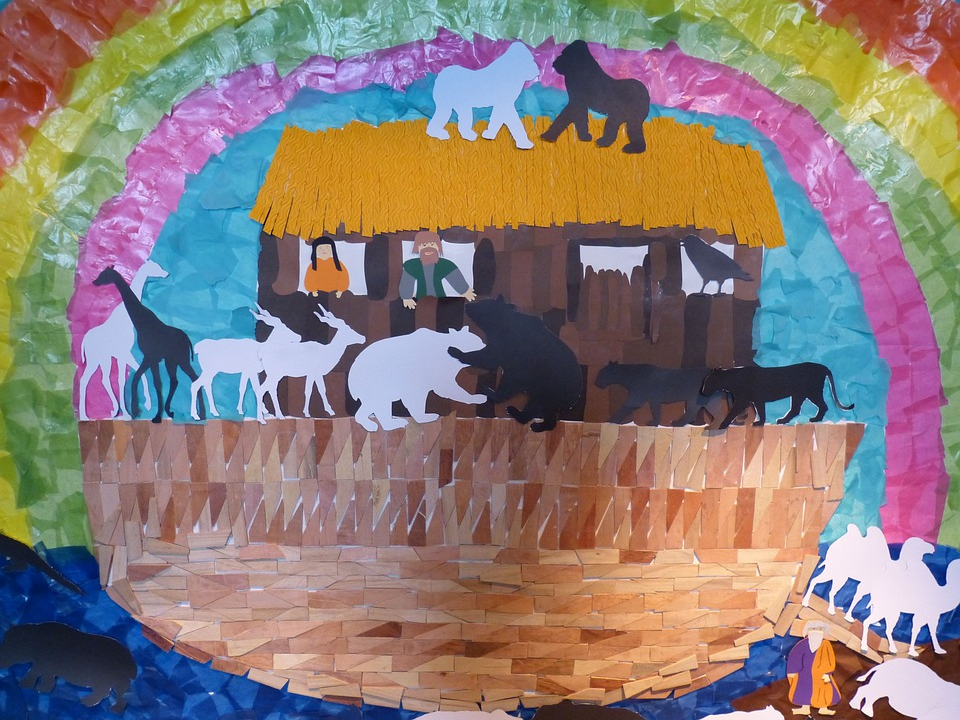 Bible, Ark, Noah, Archenoah, Ship, Rescue, Setting