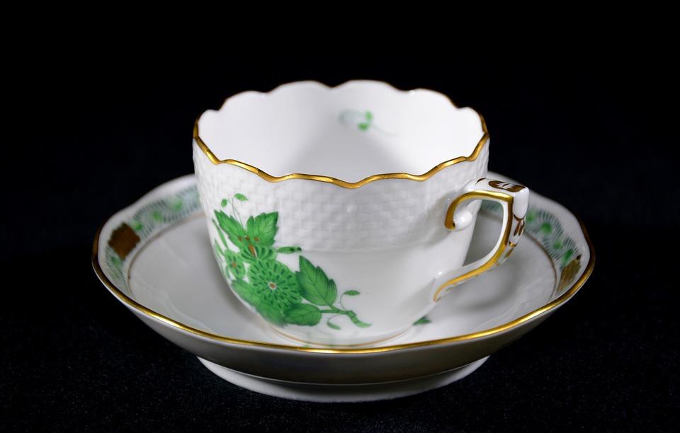 Porcelain, Cup, Saucer, Mocha Cup, Noble, Hungarian