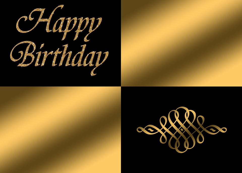 Birthday, Happy Birthday, Noble, Decorative, Greeting