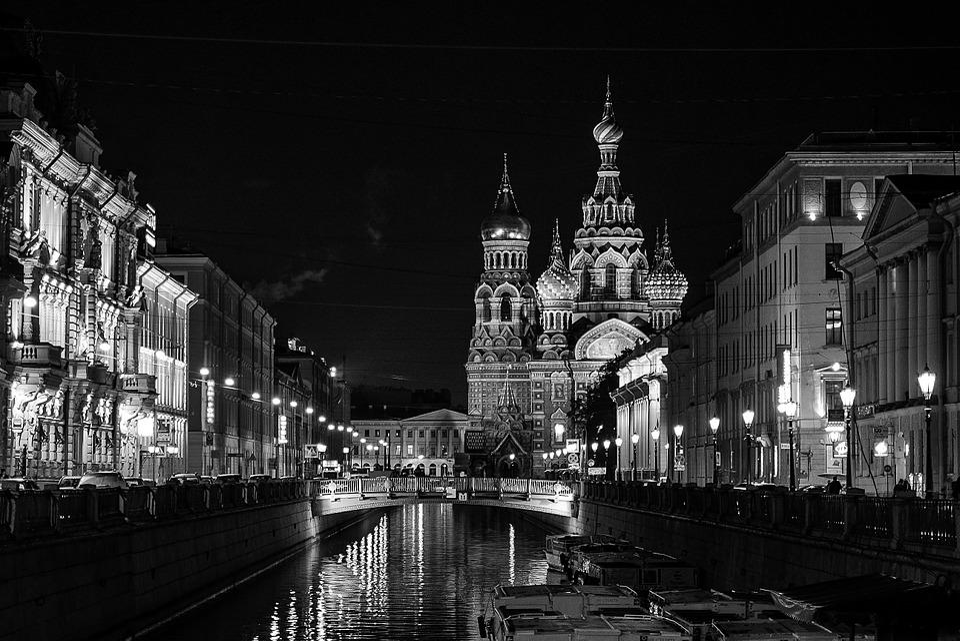 St Petersburg Russia, Nonoj Petersburg, Evening City