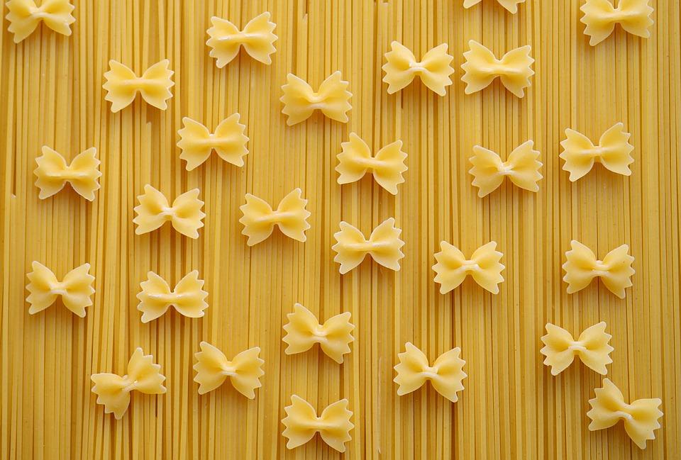 Pasta, Spaghetti, Farfalle, Noodles, Carbohydrates