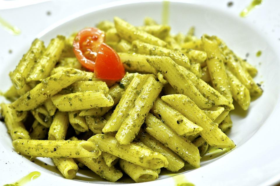 Pasta, Penne, Noodles, Food, Eat, Cook, Pesto
