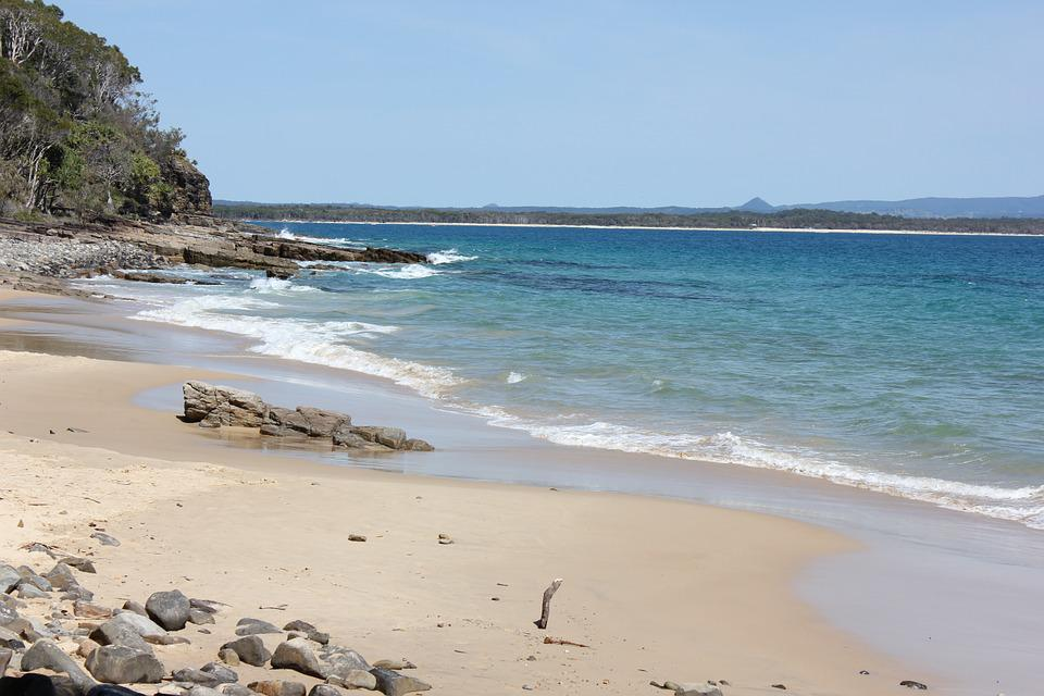 Noosa National Park, Tea Tree Bay, Bay, Beach, Ocean