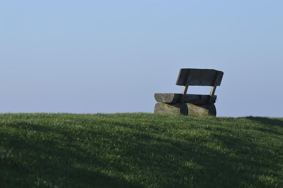 Bank, Loneliness, Rest, Dike, Nordfriesland, North Sea