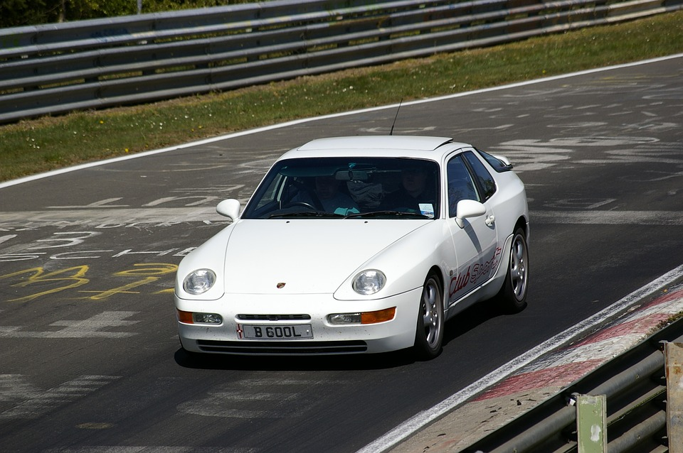 Posche, Auto, White, Nordschleife, Sports Car, Vehicle