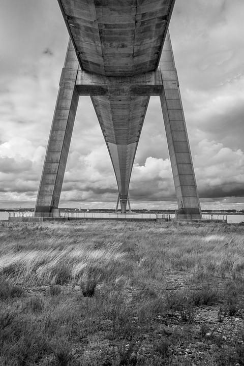Bridge, Normandy Bridge, Normandy, France, Architecture
