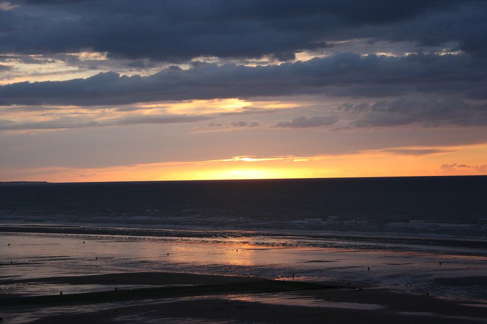 Landscape Was, Normandy Beach, Sunset
