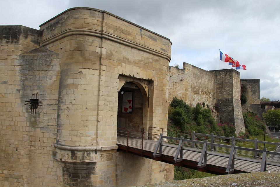 Castle, Caen, Drawbridge, Medieval, Gateway, Normandy