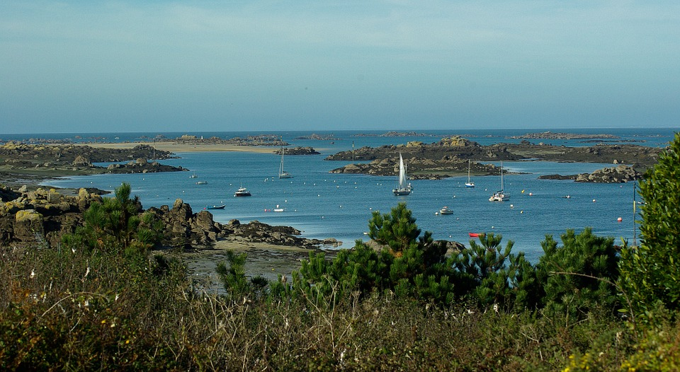Normandy, Chausey Islands, Port, Boats