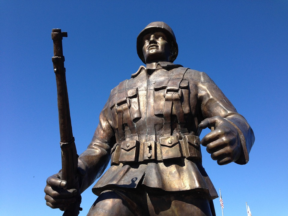 War, Memorial, Statue, Monument, Warrior, Normandy
