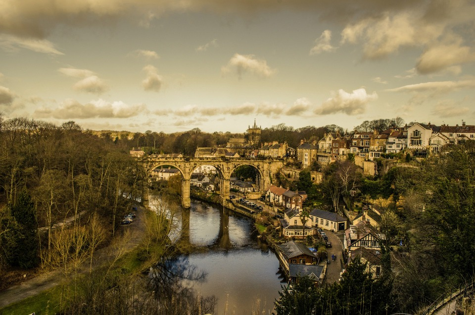 North, England, Knaresborough, Aerial, Town, View