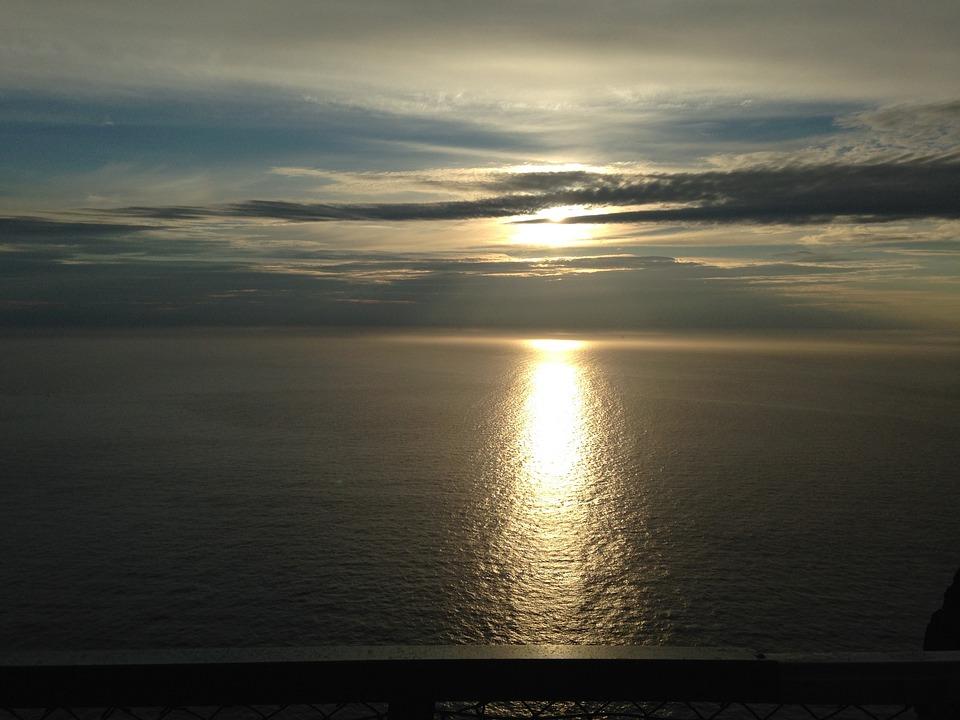 Midnight Sun, North Cape, Ocean