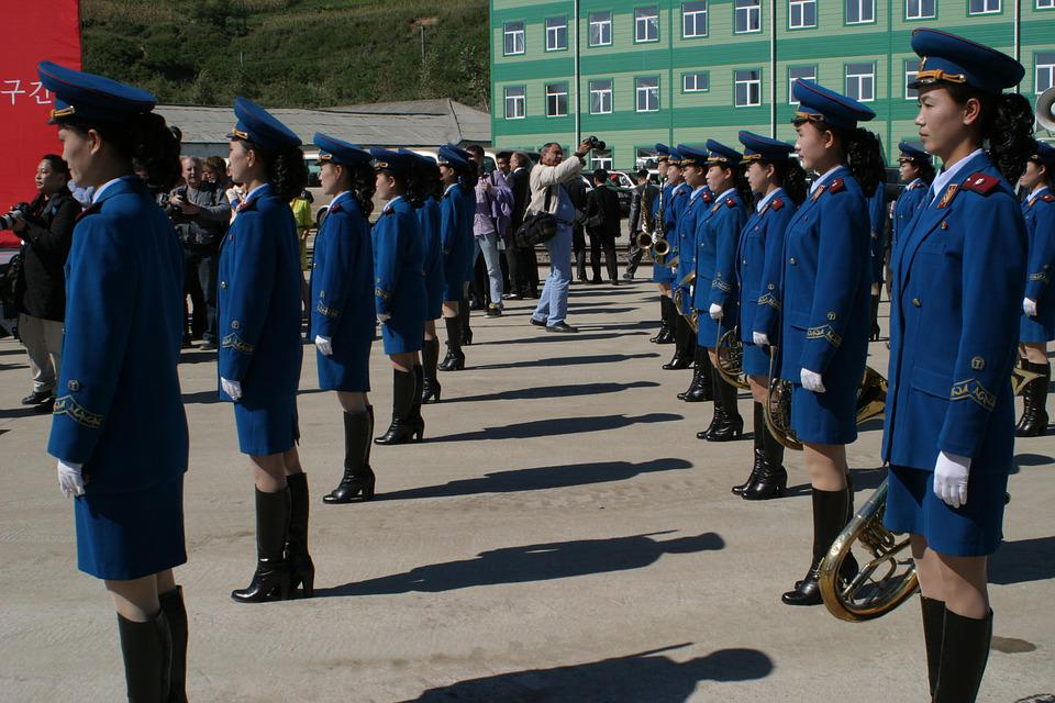 Parade, Women, North Korea, Music