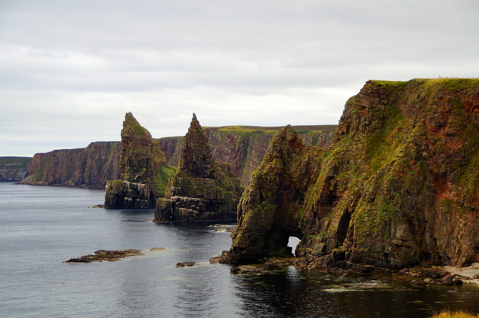 Scotland, North Of Scotland, Cliff, Landscape