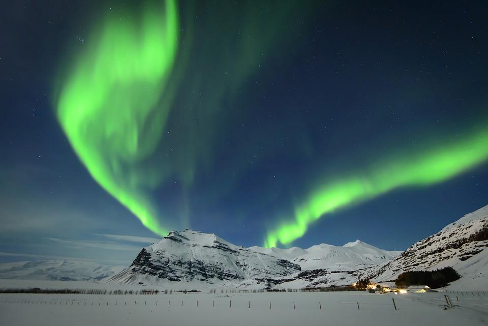 North, Northern Lights, Pole, Cold, Snow