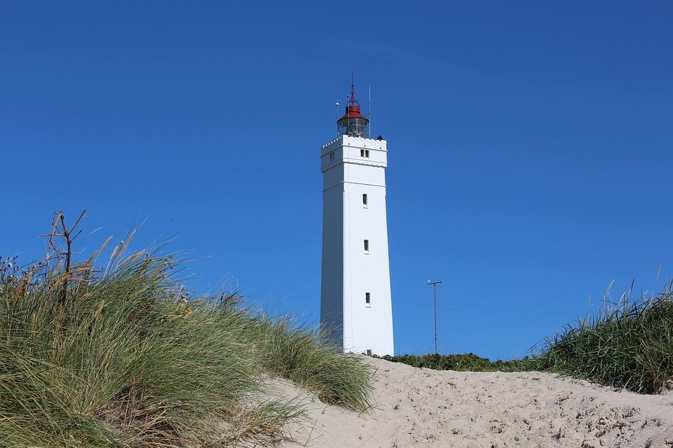 Blaavand, Denmark, Lighthouse, Beach, North Sea