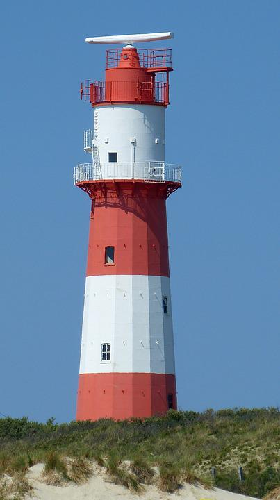 Lighthouse, Island, Borkum, North Sea
