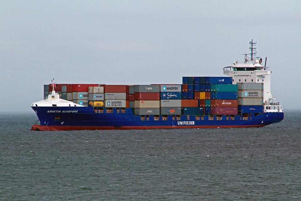 Shipping, Containers, North Sea